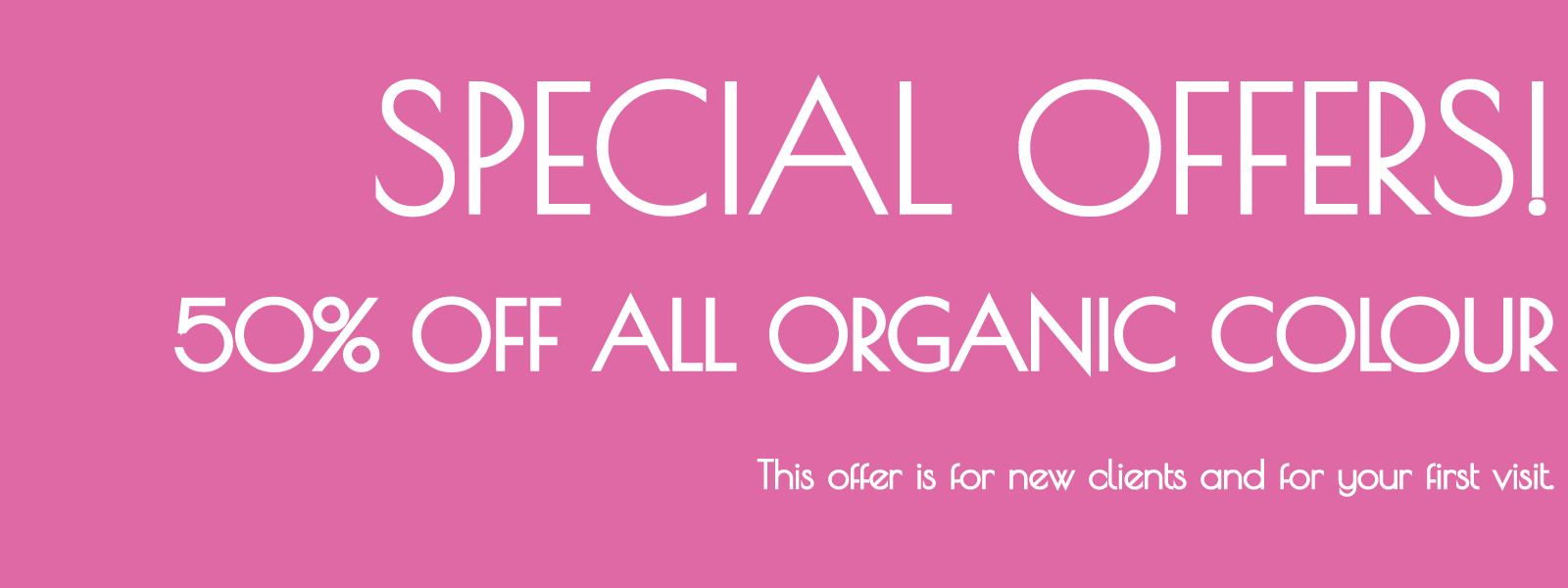 special offer on organic hair colour